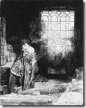 Доктор Фауст - гравюра от Рембранд