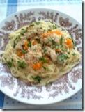 бяла риба варена със спагети